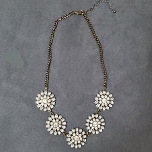 Statement floral necklace